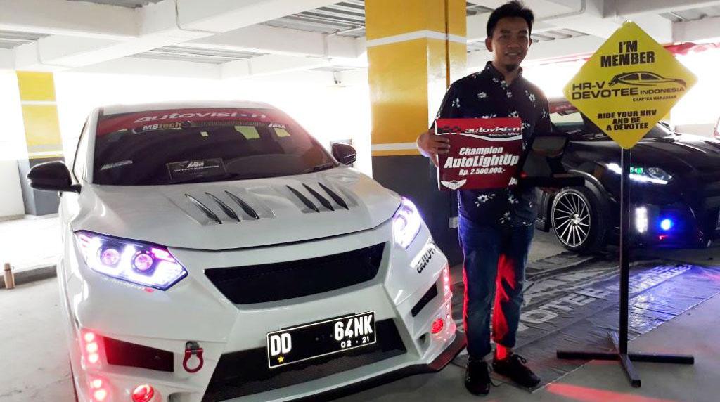 News Honda HR-V Milik Gank Juarai Autovision AutoLight Up Makassar